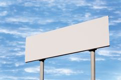 Guide Post White Road Sign Sky pole signpost Royalty Free Stock Photo