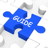 Guide Puzzle Shows Guidance Guideline And Guiding Royalty Free Stock Photos