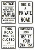 Guide road signs in Ontario - Canada Royalty Free Stock Image