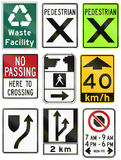 Guide road signs in Ontario - Canada Royalty Free Stock Images