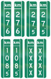 Guide road signs in Quebec - Canada Stock Image
