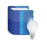 Guide for success book illustration design Stock Photo