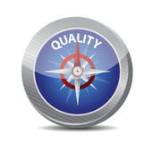 Guide to great quality. compass illustration Royalty Free Stock Photos