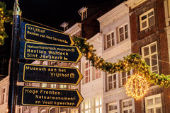 Guide to the most important tourist attractions in the Dutch cit Royalty Free Stock Photo