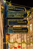Guide to the most important tourist attractions in the Dutch cit Stock Image