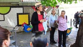 Guide touristique ? Caracas, au Venezuela dans le message publicitaire, financier, le touriste et le secteur culturel de Sabana g banque de vidéos