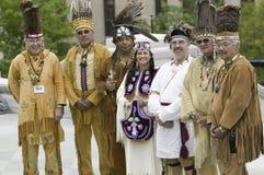 Guide tribali di Powhatan Fotografia Stock Libera da Diritti