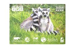 Guidebook for West Midland Safari and Leisure Park, Bewdley, Hereford and Worcester, England. BEWDLEY, UK - FEBRUARY 21, 2019: Guidebook for West Midland Safari stock photo