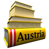 Guidebooks and dictionaries of Austria stock illustration