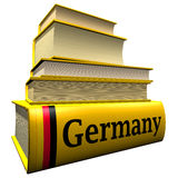 Guidebooks and dictionaries of Germany stock photo