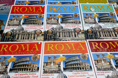 Guidebooks of Rome Royalty Free Stock Image