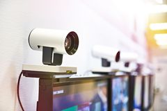 Guided camera for conferencing. Guided camera for video conferencing royalty free stock images