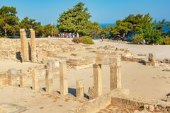 Guided tour in ancient city of Kamiros island of Rhodes, Greece. Guided tour in ancient city of Kamiros  island of Rhodes, Greece Royalty Free Stock Image