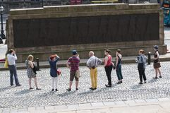 Guided tour, Liverpool, UK royalty free stock photo