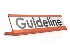Guideline table tag Stock Photo