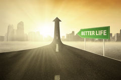 Guidepost with Better Life text Royalty Free Stock Image