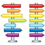 Guidepost editável colorido. Vetor Foto de Stock