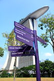 Guidepost in garden by the bay singapore Royalty Free Stock Photography