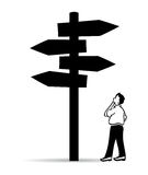 Guidepost. Guide post, choose right way Stock Images