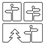 Guidepost icon Stock Photo