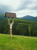 Guidepost in the mountains  Royalty Free Stock Photo
