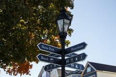 Guidepost no porto da barra, EUA, 2015 Imagem de Stock