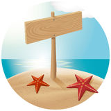 Guidepost At The Sea Beach 03 Stock Photography