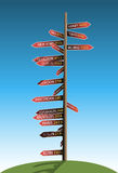 Guidepost Stock Photo