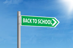 Guidepost to school Royalty Free Stock Images