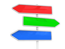 Guidepost on a way vector illustration