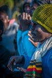 The Guides celebrating on Kilimanjaro Royalty Free Stock Photos