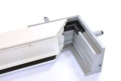 Guides For PVC Doors And Windows Profiles. Soldering PVC Profiles. Stock Images