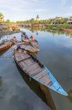 Guides at the Thu Bon River, Hoi An, Vietnam Royalty Free Stock Photos