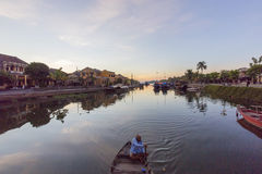 Guides at the Thu Bon River, Hoi An, Vietnam Stock Image