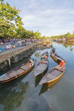 Guides at the Thu Bon River, Hoi An, Vietnam Royalty Free Stock Photography