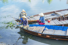 Guides at the Thu Bon River, Hoi An, Vietnam Stock Photos
