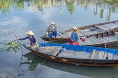 Guides at the Thu Bon River, Hoi An, Vietnam Stock Photography