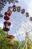 Guidi la ruota panoramica nel parco della città Immagine Stock Libera da Diritti