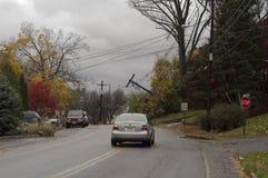 Guidi nella città dopo Sandy Fotografia Stock Libera da Diritti
