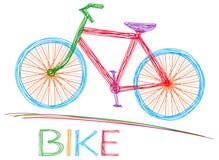 Guidi una bici Fotografia Stock Libera da Diritti