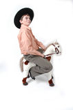 Guidila cowboy Fotografia Stock Libera da Diritti