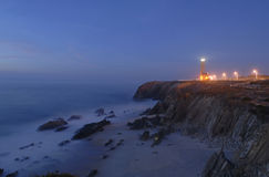 Guiding beacon from a lighthouse. São Pedro Moel - Portugal - Europe Stock Photography