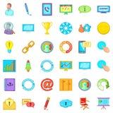 Guiding icons set, cartoon style. Guiding icons set. Cartoon set of 36 guiding vector icons for web isolated on white background Stock Image