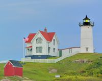 The guiding Light. Light house in Maine,USA Stock Photo