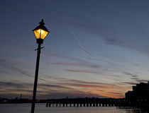 Guiding the Way--Lamppost at Inner Harbor Royalty Free Stock Images