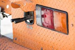 Guidons de contrôle de feu arrière et d'excavatrice images stock