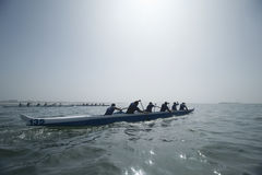 Guiga Team In Race Canoeing Imagens de Stock