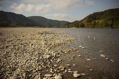 Guijarro en la orilla del río Imagen de archivo libre de regalías