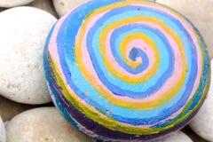 Guijarro redondo grande con espirales Fotografía de archivo libre de regalías