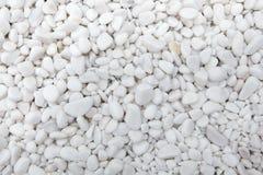 Guijarros blancos de mármol Textura del fondo Foto de archivo